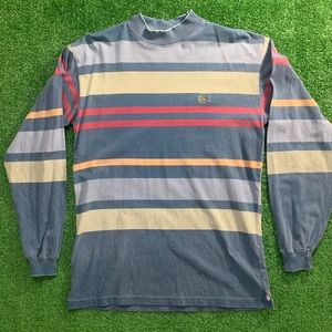 Vintage Lacoste Long Sleeve Striped Shirt
